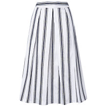 Buy L.K. Bennett Reby Full Skirt, White Online at johnlewis.com