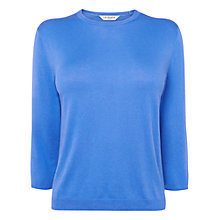 Buy L.K. Bennett Bolsa Crew Neck Jumper, Blue Sky Online at johnlewis.com