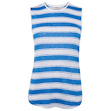 Buy L.K. Bennett Sleeveless Stripey Linen Top, Blue Sky Online at johnlewis.com