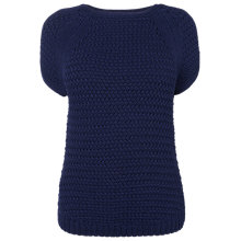 Buy L.K. Bennett Kyoto Tape Yarn Knit, Peacoat Blue Online at johnlewis.com