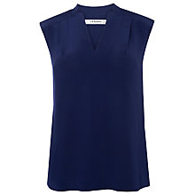 Buy L.K. Bennett Norway Sleeveless Silk Top, Peacoat Blue Online at johnlewis.com
