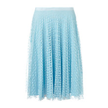 Buy Jigsaw Pleated Lace Skirt Online at johnlewis.com