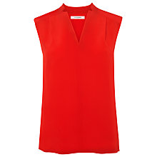 Buy L.K. Bennett Norway Sleeveless Silk Top, Red Online at johnlewis.com