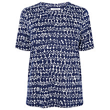 Buy L.K. Bennett Volsa Print Top, Pri-Peacoat/White Online at johnlewis.com