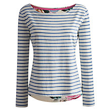 Buy Joules Pia Rose Jersey Top, Rose Print Online at johnlewis.com