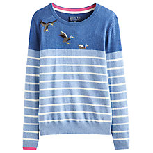 Buy Joules Marsha Ducks Jumper, Blue Online at johnlewis.com