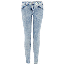 Buy Warehouse Random Wash Supersoft Skinny Jeans, Indigo Denim Online at johnlewis.com