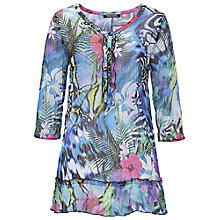 Buy Betty Barclay 3/4 Length Sleeve Tunic Top, Blue Floral Online at johnlewis.com
