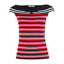 Buy Precis Petite Bardot Stripe Top, Multi Dark Online at johnlewis.com