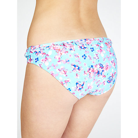 Buy John Lewis Faded Floral Frill Bikini Bottoms, Mint Online at johnlewis.com