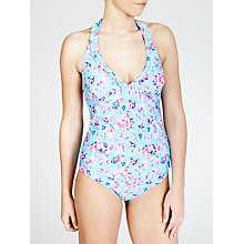 Buy John Lewis Faded Floral Tankini Top, Mint Online at johnlewis.com