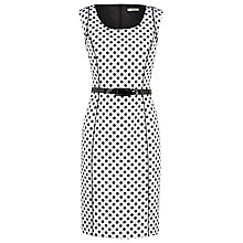Buy Precis Petite Ottoman Polka Dot Shift Dress, White/Black Online at johnlewis.com