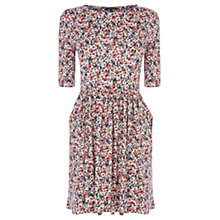 Buy Warehouse Floral Print Dress, Light Pink Online at johnlewis.com