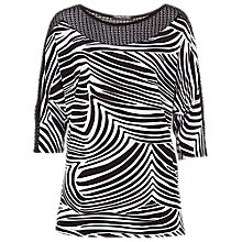 Buy Betty Barclay Graphic Print Crochet Detail Top, Black/White Online at johnlewis.com