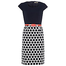 Buy Precis Petite Dark Spot Skirt Shift Dress, Multi Online at johnlewis.com