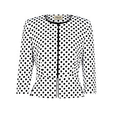 Buy Precis Petite Ottoman Polka Dot Jacket, White/Black Online at johnlewis.com