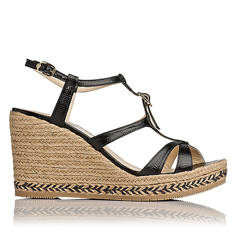 Buy L.K. Bennett Andra Gladiator Espadrille Wedge Sandals Online at johnlewis.com