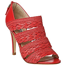 Buy L.K. Bennett Ciara Woven Peep Toe Stiletto Sandals. Red Online at johnlewis.com