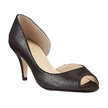 Buy John Lewis Made in England Morston Leather Peep Toe Court Shoes, Black Online at johnlewis.com