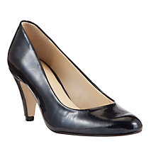 Buy John Lewis Made in England Holt Detachable Trim Leather Court Shoes, Navy Online at johnlewis.com