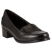 Buy John Lewis Lily Leather Loafers, Black Online at johnlewis.com