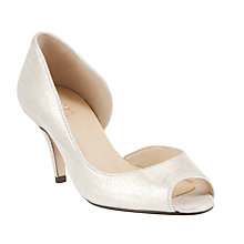 Buy John Lewis Made in England Morston Leather Peep Toe Court Shoes, Gold Online at johnlewis.com
