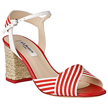 Buy L.K. Bennett Marlene Ankle Strap Block Heel Sandals Online at johnlewis.com