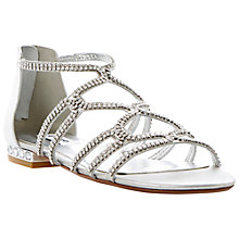 Buy Dune Kym Caged Diamante Flat Sandals Online at johnlewis.com