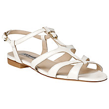 Buy L.K. Bennett Naomi Strappy Flat Sandals, White Online at johnlewis.com