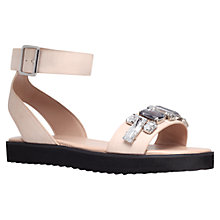 Buy KG by Kurt Geiger Night Jewel Embellished Sandals, Nude Online at johnlewis.com