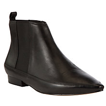 Buy COLLECTION by John Lewis Marlie Flat Pointed Leather Ankle Boots, Black Online at johnlewis.com