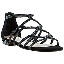 Buy Dune Kym Caged Diamante Flat Sandal Online at johnlewis.com