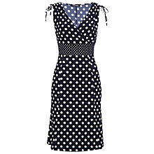 Buy Betty Barclay Polka Dot Ladies' Dress, Dark Blue/White Online at johnlewis.com