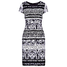 Buy Betty Barclay Lace Print Shift Dress, White/Black Online at johnlewis.com