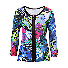 Buy Betty Barclay Floral Zip-Through Cardigan, Multi Online at johnlewis.com