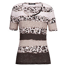 Buy Betty Barclay Short Sleeve Print T-Shirt, Cream/Brown Online at johnlewis.com
