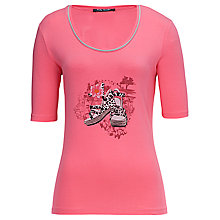 Buy Betty Barclay Shoes Short Sleeve T-Shirt, Sunkist Coral Online at johnlewis.com