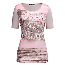 Buy Betty Barclay Zebra Short Sleeve T-Shirt, Pink Online at johnlewis.com
