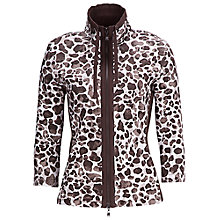 Buy Betty Barclay Leopard Print Zip Cardigan, Cream/Brown Online at johnlewis.com