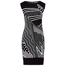 Buy Betty Barclay Jersey Graphic Print Dress, Black/White Online at johnlewis.com