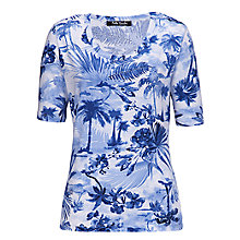 Buy Betty Barclay Palm Tree Print T-Shirt, Blue/White Online at johnlewis.com