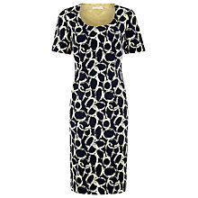Buy Jacques Vert Circle Print Dress, Navy/Cream Online at johnlewis.com