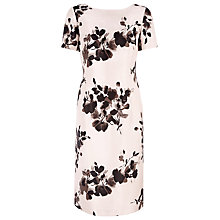 Buy Jacques Vert Floral Print Shift Dress, Cream/Black Online at johnlewis.com