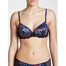 Buy John Lewis Isla Print Padded Balcony Bra, Haze Blue Online at johnlewis.com