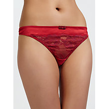 Buy COLLECTION by John Lewis Scarlett Lace Thong, Scarlet / Merlot Online at johnlewis.com