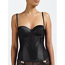 Buy COLLECTION by John Lewis Genevieve Lace Basque, Black Online at johnlewis.com