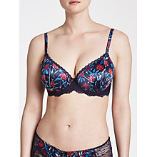 Buy John Lewis Isla Print DD Plus Padded Balcony Bra, Haze Blue Online at johnlewis.com