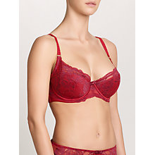 Buy COLLECTION by John Lewis Scarlett Lace DD Plus Bra, Scarlet / Merlot Online at johnlewis.com