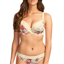 Buy Freya Daydreamer Padded Underwired Half Cup Bra, Ivory Online at johnlewis.com