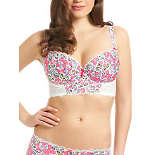 Buy Freya Flourish Padded Wired Longline Bra, Blossom Online at johnlewis.com